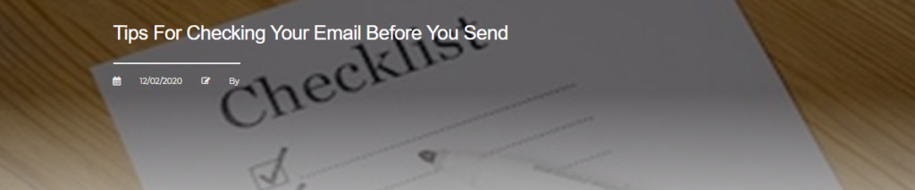 Tips For Checking Your Email Before You Send