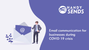 Email communication for businesses during COVID 19 crisis