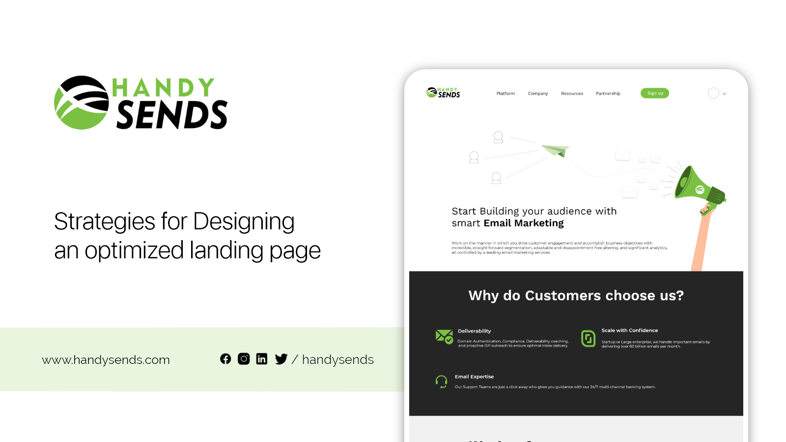 Strategies for Designing an optimized landing page